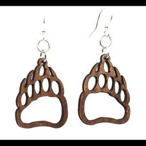Bear Claws Wooden Earrings